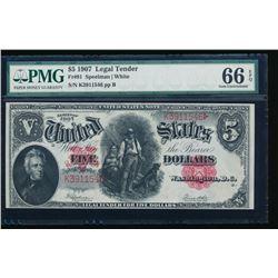 1907 $5 Legal Tender Note PMG 66EPQ