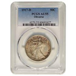 1917-D Walking Liberty Half Dollar PCGS AU55