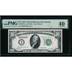 1928 $10 Boston FRN PMG 40