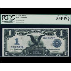 Rare Fr. 229a 1899 $1 Black Eagle Silver Certificate PCGS 55PPQ
