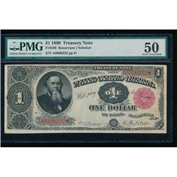 1890 $1 Treasury Note PMG 50