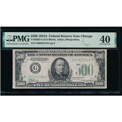 1934A $500 Chicago FRN PMG 40