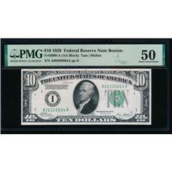 1928 $10 Boston FRN PMG 50