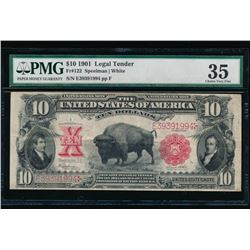 1901 $10 Bison Legal Tender Note PMG 35