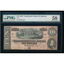 1864 $10 T-68 Confederate PMG 58