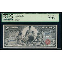 1896 $2 Educational Silver Certificate PCGS 40PPQ