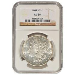 1884-S $1 Morgan Silver Dollar NGC AU58