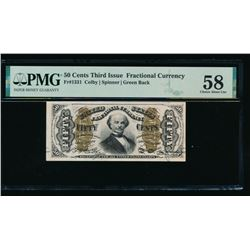 50 Cent Third Issue Fractional Note PMG 58