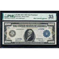 1918 $1000 San Francisco FRN PMG 35