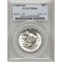 1925 California Half Dollar PCGS MS66