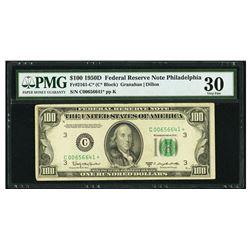 1950D $100 Philadelphia STAR FRN PMG 30