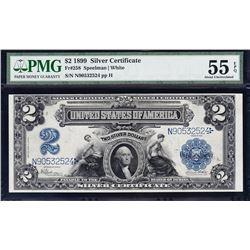 1899 $2 Mini Porthole Silver Certificate PMG 55EPQ