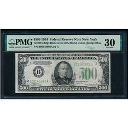 1934 $500 New York FRN PMG 30