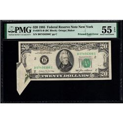 1985 $20 Butterfly Error New York FRN PMG 55EPQ