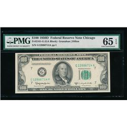 1950D $100 Chicago FRN PMG 65EPQ