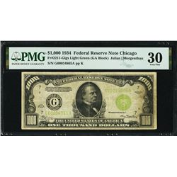 1934 $1000 Chicago FRN PMG 30