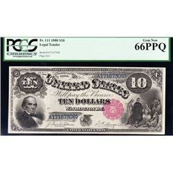 1880 $10 Jackass Legal Tender Note PCGS 66PPQ