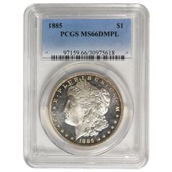 1885 $1 Morgan Silver Dollar PCGS MS66DMPL