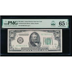1934C $50 New York FRN PMG 65EPQ