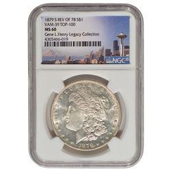 1879-S Rev 78 $1 Morgan Silver Dollar Coin NGC MS60