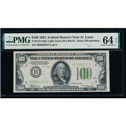 1934 $100 St Louis FRN PMG 64EPQ