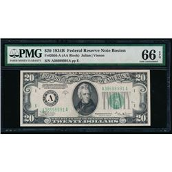 1934B $20 Boston FRN PMG 66EPQ