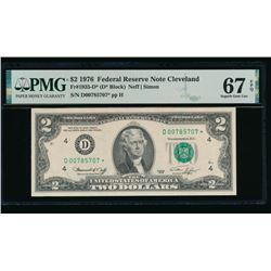 1976 $2 STAR Cleveland FRN PMG 67EPQ