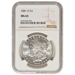 1881-O $1 Morgan Silver Dollar Coin NGC MS65