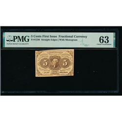 5 Cent First Issue Fractional Note PMG 63