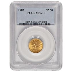 1903 $2.5 Liberty Gold Coin PCGS MS63+