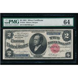 1891 $2 Silver Certificate PMG 64