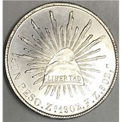 1902 Libertad Mexican Peso