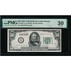 1928 $50 Boston FRN PMG 30