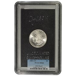 1881-CC $1 Morgan Silver Dollar GSA PCGS MS66
