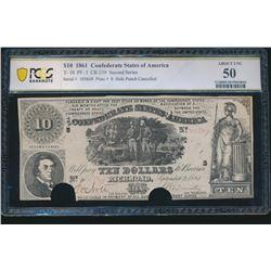 1861 $10 Confederate States of America T-30 PCGS 50