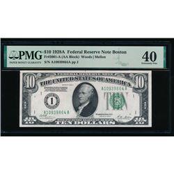 1928A $10 Boston FRN PMG 40