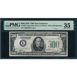 1934 $500 San Francisco FRN PMG 35