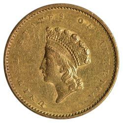 1855 $1 Princess Type 2 Gold Coin
