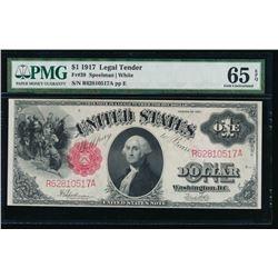 1917 $1 Legal Tender Note PMG 65EPQ