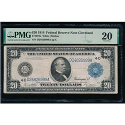 1914 $20 Cleveland FRN PMG 20