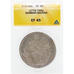 1770 Thal Germany Bavaria Coin ANACS EF45