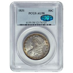 1831 Capped Bust Half Dollar PCGS AU58 CAC