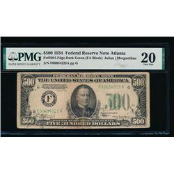 1934 $500 Atlanta FRN PMG 20
