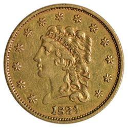 1834 $2.5 Liberty Head Quarter Eagle Gold Coin