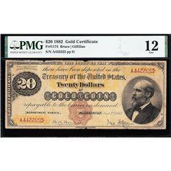 1882 $20 Gold Certificate PMG 12