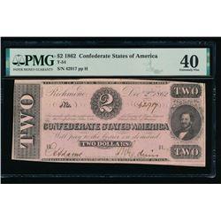 1862 $2 T-54 Confederate PMG 40