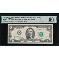 1976 $2 Boston STAR FRN PMG 66EPQ