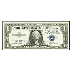 1957 $1 STAR Silver Certificate Fr. 1619
