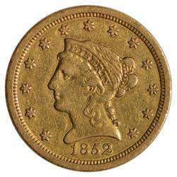 1852-O $2.5 Liberty Head Quarter Eagle Gold Coin
