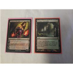 2 RARE MAGIC THE GATHERING CARDS LILIANA OF THE VEIL MYTHIC RARE PLANESWALKER AND VERDANT CATACOMBS